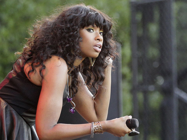 FILE - In this July 11, 2012 photo, singer Jennifer Hudson is seen on stage during her performance at the Taste of Chicago. On Tuesday, July 24, 2012, William Balfour, the man convicted in the slayings of Hudson&#39;s mother, brother and 7-year-old nephew, is scheduled to be in court in Chicago where his attorneys are expected to ask the judge to grant Balfour a new trial. If that request is denied, Judge Charles Burns could immediately sentence Balfour. (AP Photo/Nam Y. Huh, File)