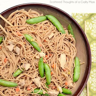 Peanut Sesame Noodles with Chicken