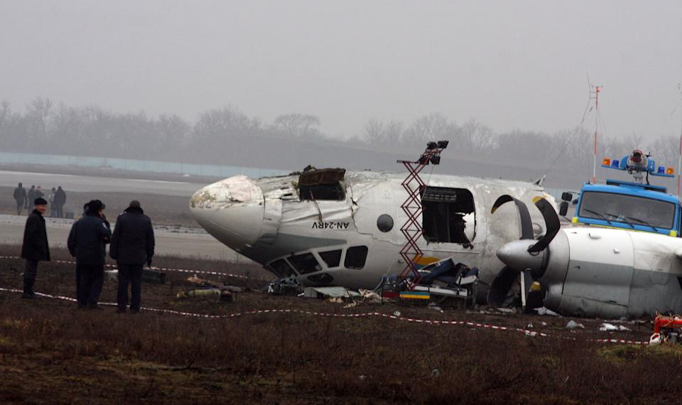 Crashed Ukrainian plane hit weather station