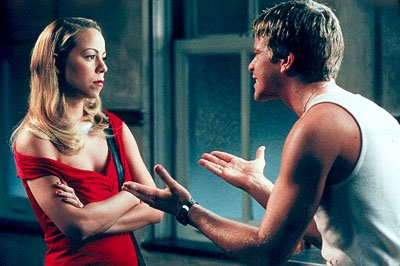 Billie ( Mariah Carey ) and Julian ( Max Beesley ) argue in 20th Century Fox's Glitter