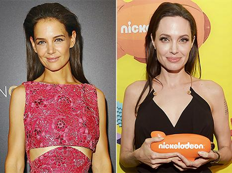 "Katie Holmes Praises Fellow Supermom Angelina Jolie for Kids' Choice Speech: ""She's an Inspiration"""