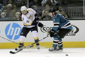 Predators beat Sharks 2-1 in shootout