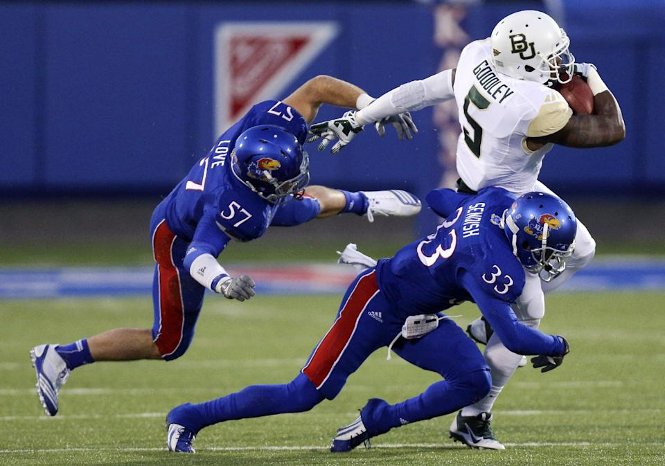 Petty leads No. 6 Baylor to 59-14 rout of Kansas