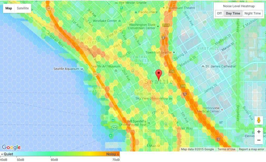 Interactive Map Shows What Seattle Noise Levels Look Like