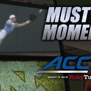 UNC's Skye Bolt Skies to Make Diving Catch vs BC | ACC Must See Moment