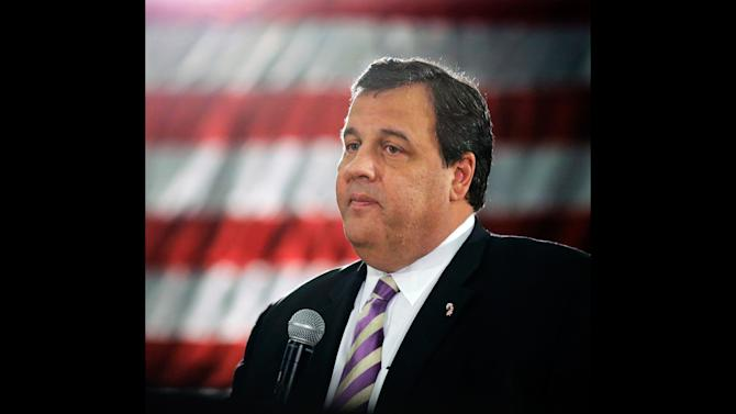 """FILE - In a Thursday, March 21, 2013 file photo, New Jersey Gov. Chris Christie speaks to a large gathering in Manasquan, N.J., during a town hall meeting. Christie said Monday, April 29, 2013 that President Barack Obama """"has kept every promise he's made"""" about helping the state recover from Superstorm Sandy. Speaking on MSNBC's """"Morning Joe"""" program on the 6-month anniversary of the deadly storm, the Republican governor said presidential politics were the last thing on his mind as he toured storm-devastated areas with Obama last fall. (AP Photo/Mel Evans, File)"""