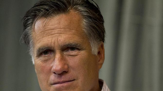 FILE - In this July 10, 2012 file photo, Republican presidential candidate, former Massachusetts Gov. Mitt Romney is seen in Colorado Springs, Colo. (AP Photo/Evan Vucci, File)