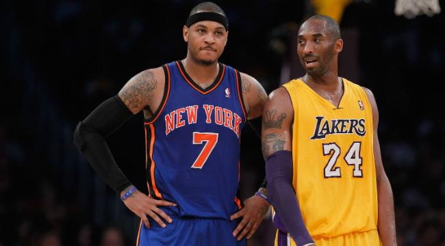 Kobe Bryant Is Giving Carmelo Anthony Advice On How To Deal With Phil Jackson's Criticism