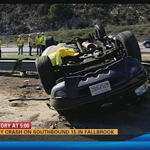 Deadly crash on southbound I-15 in Fallbrook