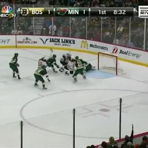 Niklas Backstrom Save on Milan Lucic (11:30/1st)