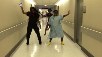 Woman in Labor Does the 'Whip/Nae Nae' Dance Between Contractions
