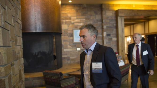 Benjamin Broadbent, Deputy Governor of the Bank of England, arrives at the Jackson Hole Economic Policy Symposium in Jackson Hole