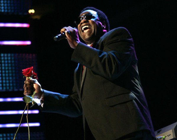 FILE - This July 5, 2009 file photo shows Al Green performing during the Essence Music Festival in New Orleans. Jennifer Hudson sang Green&#39;s classic &quot;Let&#39;s Stay Together,&quot; at an inaugural ball Monday, Jan. 21, 2013, leaving many to wonder why the soul legend wasn&#39;t singing his own hit for President Barack Obama and first lady Michelle Obama. In a statement to The Associated Press, his representative said Green had been asked to sing, but scheduling conflicts prevented him from attending Monday&#39;s festivities. Green said he&#39;d be honored to sing for the president in the future. (AP Photo/Patrick Semansky, file)