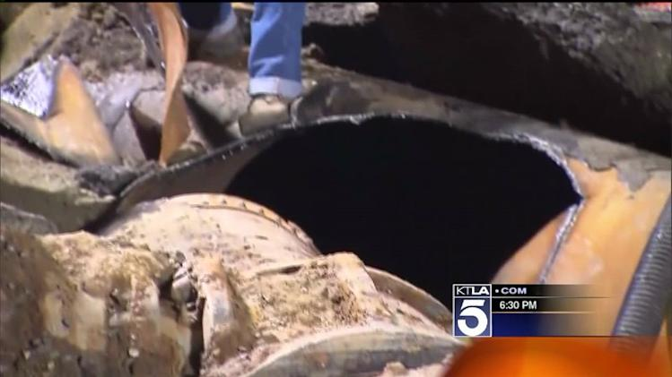 UCLA Flood: LADWP Crews Excavate Water Main Site, Prepare for Repairs