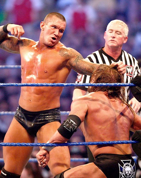 Orton Randy TripleH Wrestlemania