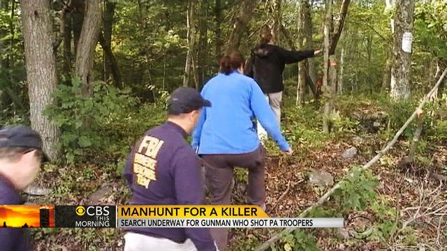 Search underway for killer who shot Pennsylvania state troopers