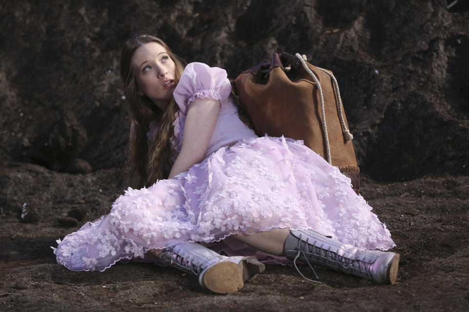 "This TV publicity image released by ABC shows Sophie Lowe in a scene from ""Once Upon a Time in Wonderland,"" a new spin off series from ""Once Upon a Time,"" premiering as part of the fall 2013 line-up on ABC.  (AP Photo/ABC, Jack Rowand)"