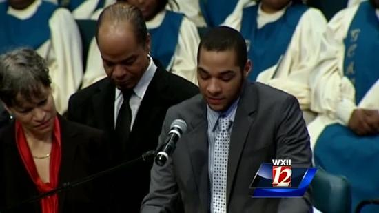 Web Extra: Roland Hayes' grandson speaks at funeral