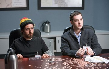 David Krumholtz and Eddie Kaye Thomas in New Line Cinema's Harold and Kumar Escape From Guantanamo Bay
