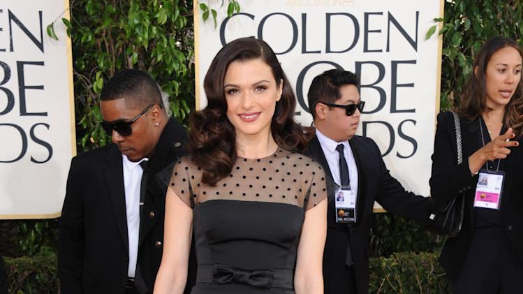 Actress Rachel Weisz arrives at the 70th Annual Golden Globe Awards at the Beverly Hilton Hotel on Sunday Jan. 13, 2013, in Beverly Hills, Calif. (Photo by Jordan Strauss/Invision/AP)