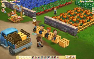 Screenshot from Zynga's Farmville 2 Game: Credit AP