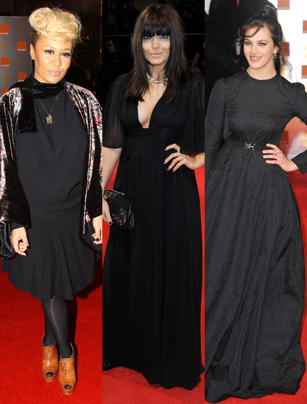emeli-sande-claudia-winkleman-bafta-black-dress
