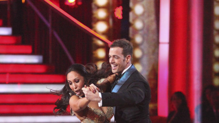"Cheryl Burke and William Levy perform on ""Dancing With the Stars."""