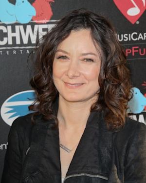 """Sara Gilbert arrives at the """"God Bless Ozzy Osbourne"""" screening in Hollywood, Calif. on August 22, 2011  -- Getty Premium"""