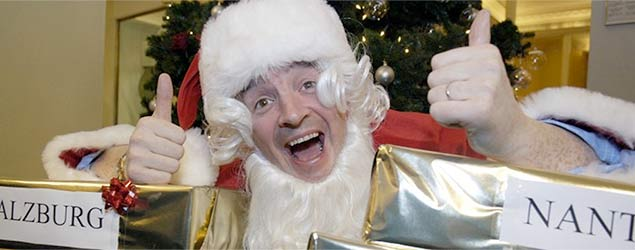 Michael O'Leary dressed as Santa