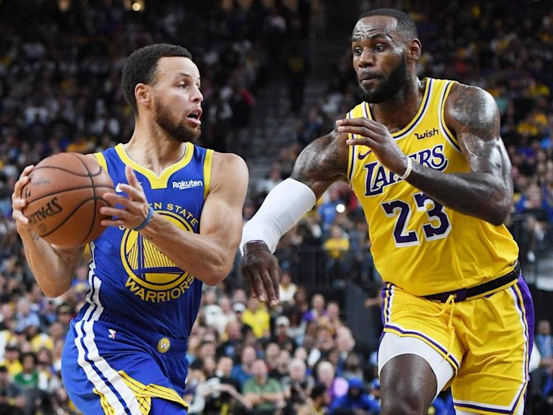 Golden State Warriors did their best to upstage Lebron James (Getty)