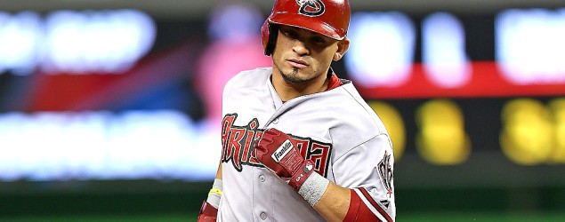 A home run by Arizona&#39;s Gerardo Parra is the first of its kind in 50 years (Getty Images)