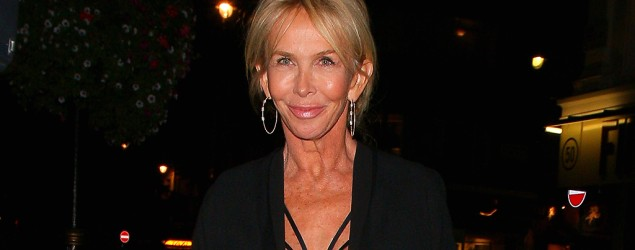 At 60, Trudie Styler pulls off risqué outfit. (Mark Robert Milan/GC Images)
