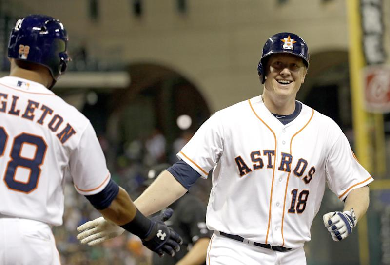 Carter leads Astros homer-happy win over Athletics