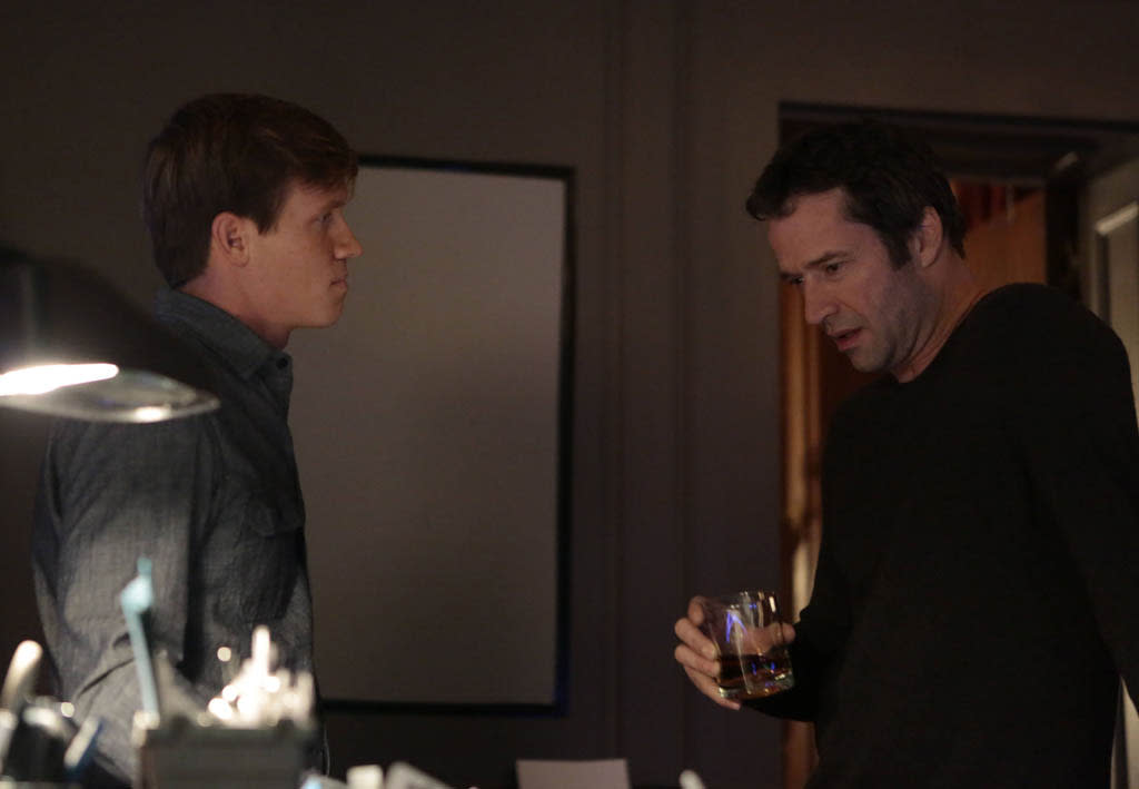 "Joe Carroll (James Purefoy) and Roderick (guest star Warren Kole) discuss plans for the future in the ""Love Hurts"" episode of ""The Following."""