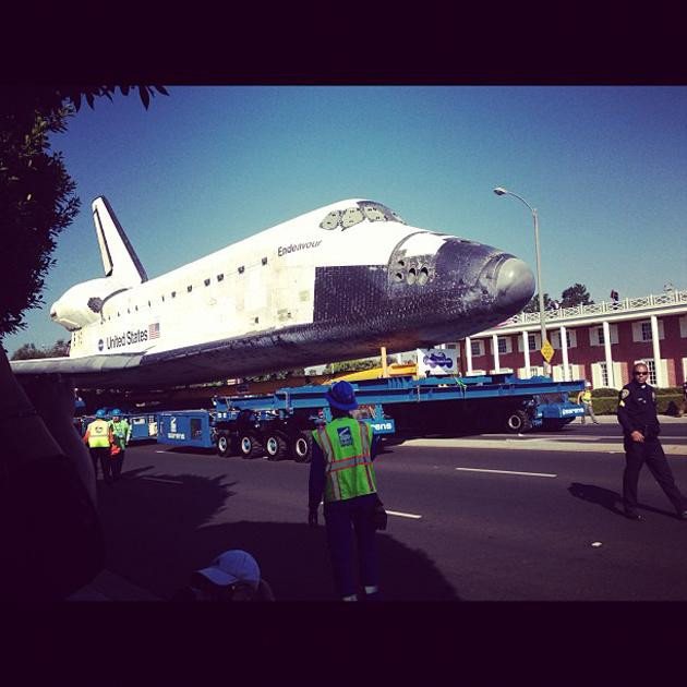 And it's off! #Endeavour (Photo courtesy of @torrey_ynews)