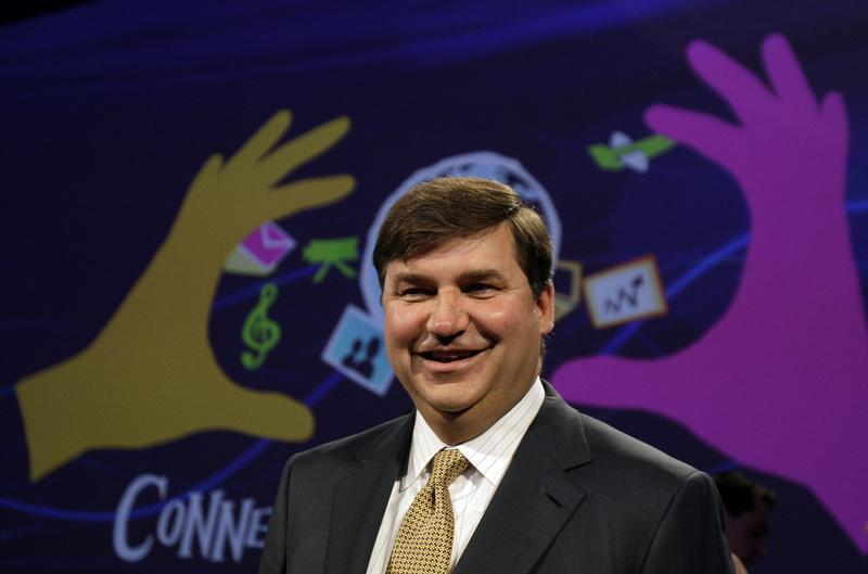 Hewlett-Packard's Executive Vice President Bradley poses for photographs during a presentation in Berlin