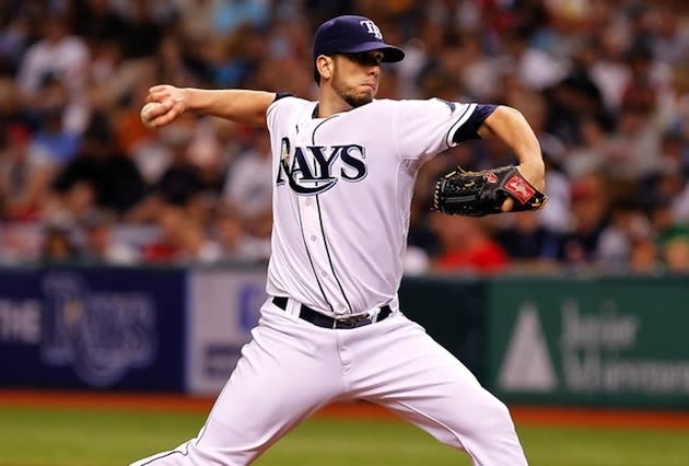 James Shields, a Hart High grad, was traded in part for another Hart grad — Getty