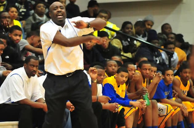 Simeon basketball coach Robert Smith, who was suspended for four games following his team's fight with Morgan Park — Chicago Sun Times