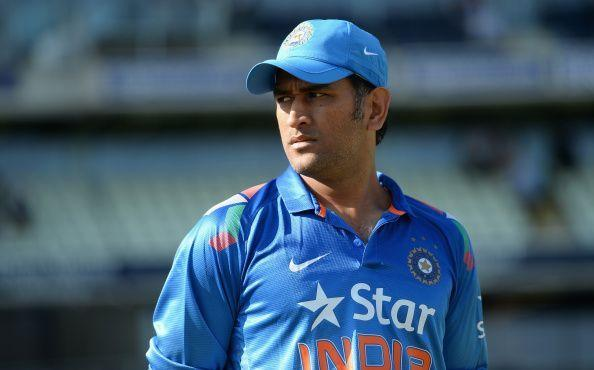 MS Dhoni attends cricket match organised by Indian Army
