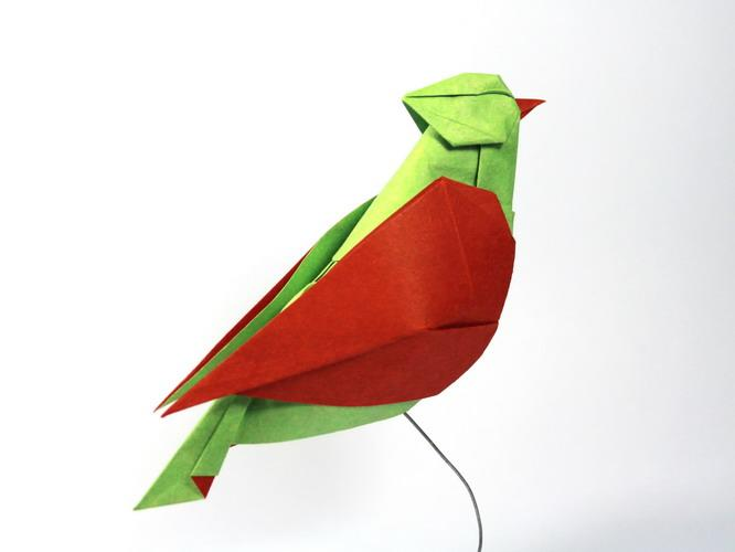 Origami art - Song bird