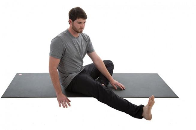 Bent-Knee Straddle Reach and Twist 1