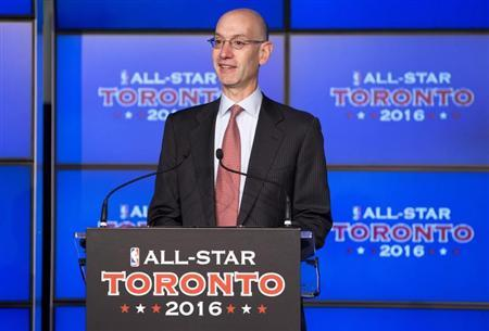 Deputy NBA commissioner Silver speaks during an announcement that the Toronto Raptors will host the 2016 NBA All-Star game in Toronto