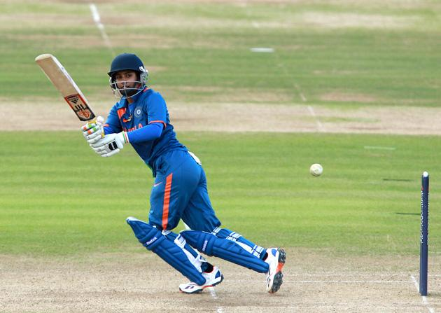 Mithali Raj of India in action during the 1st NatWest One Day International match between England and India at Lord's on July 1, 2012 in London, England.  (Photo by Jan Kruger/Getty Images)