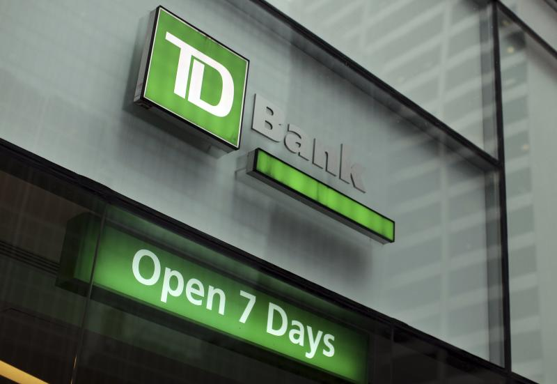 The outside of a TD Bank branch is seen in New York