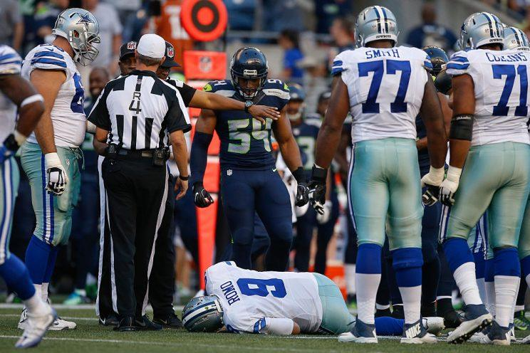 Tony Romo's latest injury highlights this week's look at recent fantasy risers and fallers (Photo by Otto Greule Jr/Getty Images)