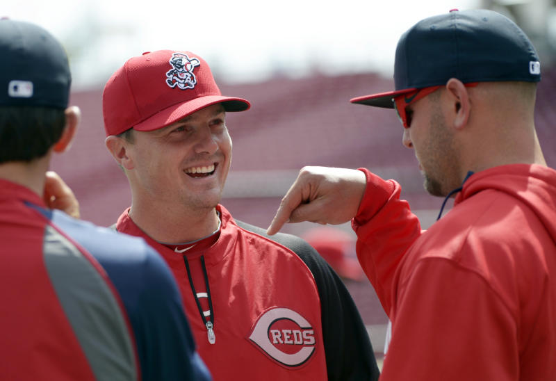Reds' Chapman feeling good, still can't work out