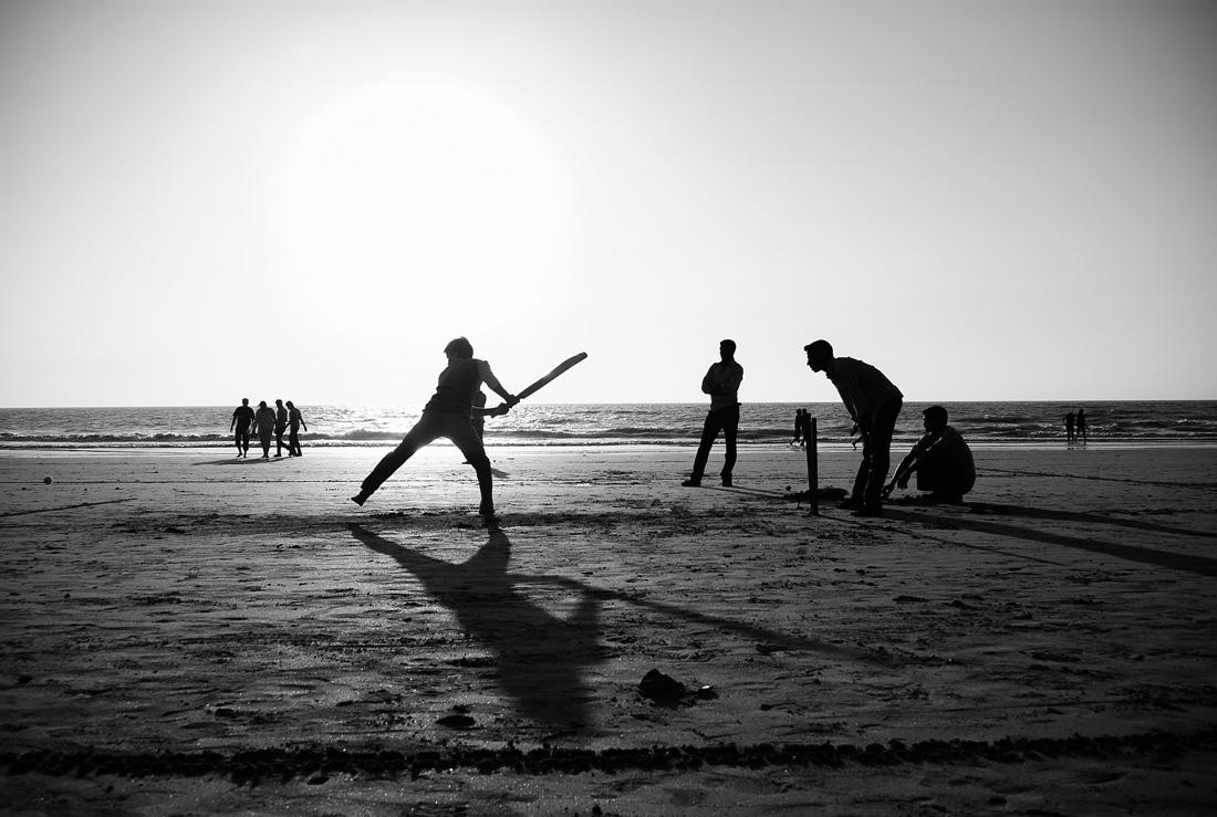 Beach cricket, by Ganesh Shankar