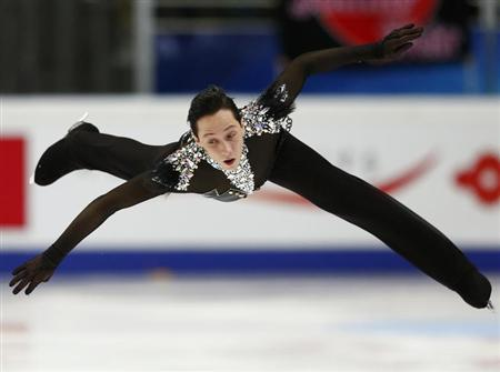 Weir of the U.S. performs during the men's short program at the ISU Grand Prix of Figure Skating Rostelecom Cup in Moscow