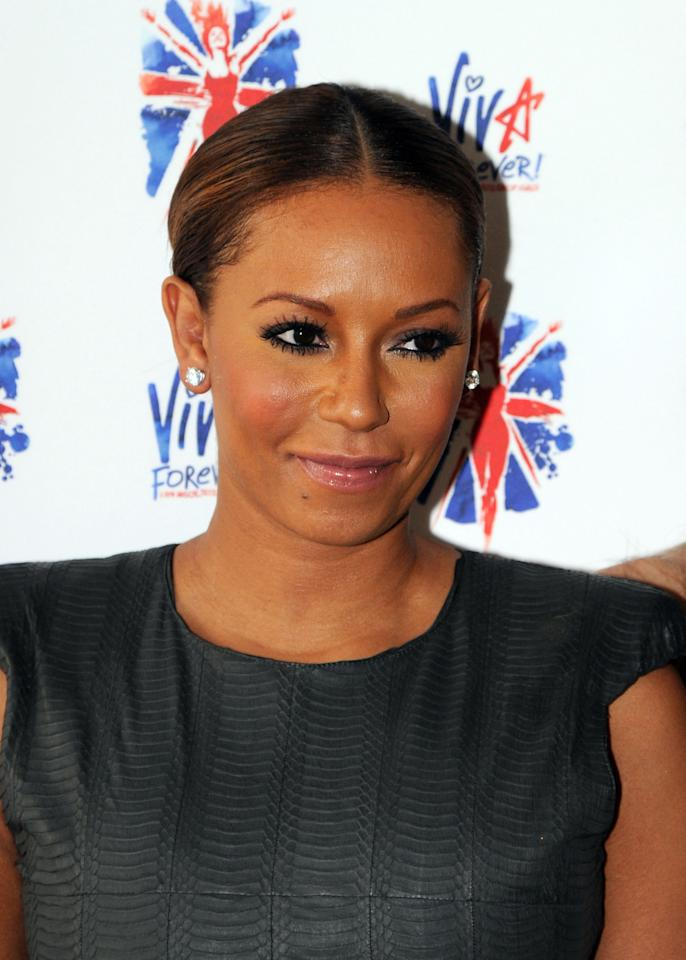 LONDON, UNITED KINGDOM - JUNE 26: Melanie Brown attends launch of new musical based on the Spice Girls' music at St Pancras Renaissance Hotel on June 26, 2012 in London, England. (Photo by Dave Hogan/Getty Images)