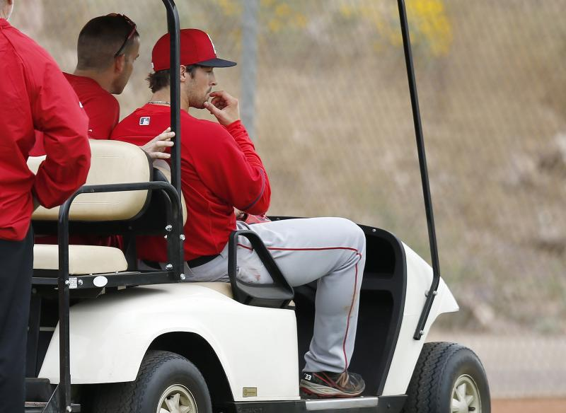 Josh Hamilton strained calf, out at least 2 weeks